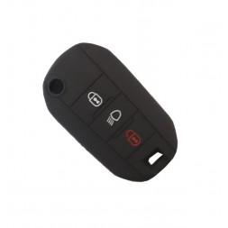 Θήκη Σιλικόνης Citroen-Peugeot Μαύρη