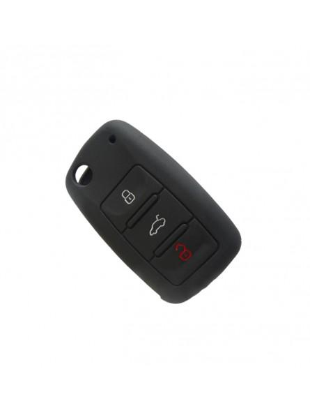 Θήκη Σιλικόνης Volkswagen-Seat-Skoda Μαύρη