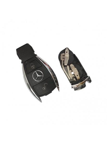 Κέλυφος Κλειδιού Mercedes για το Νέο Smart Key με 2 Κουμπιά (Nickel)
