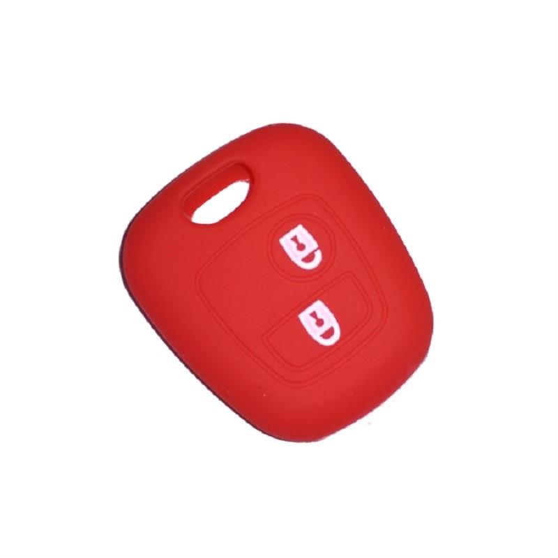 Θήκη Σιλικόνης Κλειδιού Peugeot-Citroen-Toyota Κόκκινη