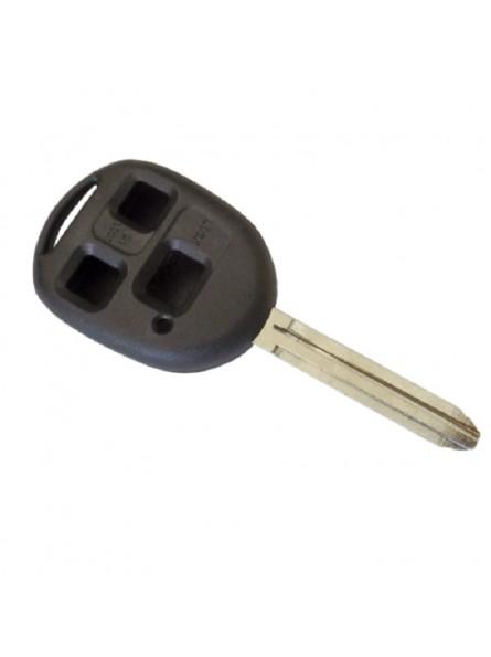 Κέλυφος Κλειδιού Toyota (Ενισχυμένο) με 3 Κουμπιά και Λάμα TOY43