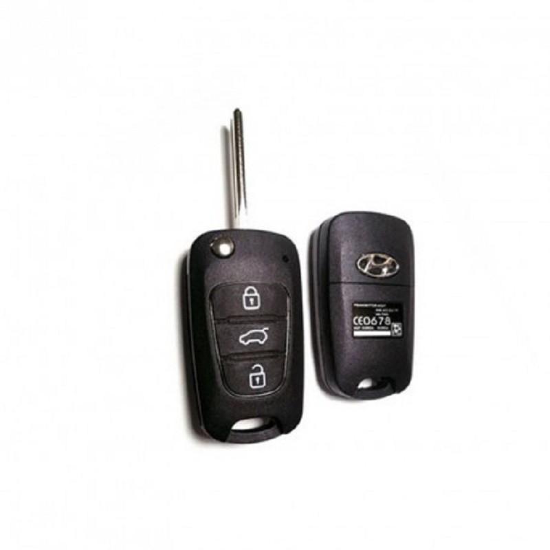 Κέλυφος Κλειδιού Hyundai με 3 Κουμπιά και Λάμα TOY48