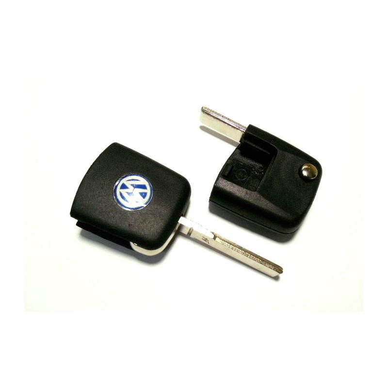 Κενό Κλειδί Volkswagen με Υποδοχή για Chip Αναδιπλωμένο και Λάμα HU66