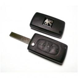 Κέλυφος Κλειδιού Peugeot με 3 Κουμπιά και Λάμα HU83