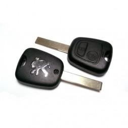 Τηλεχειριστήριο Peugeot με 2 Κουμπιά και ΙD46 Chip