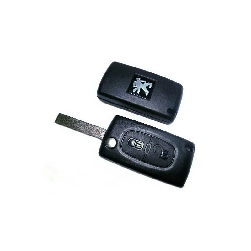 Τηλεχειριστήριο Peugeot Αναδιπλωμένο με 2 Κουμπιά και ΙD46 Chip