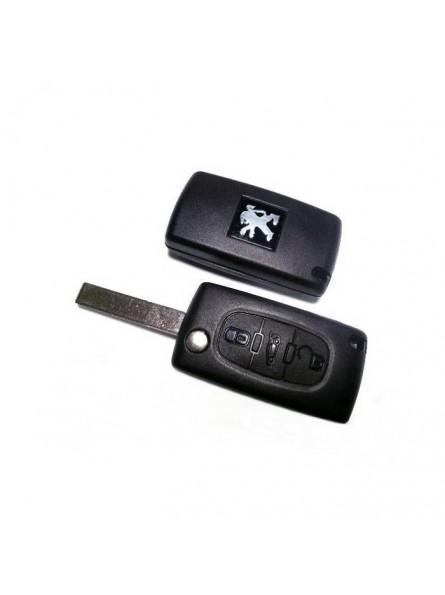 Τηλεχειριστήριο Peugeot Αναδιπλωμένο με 3 Κουμπιά και ΙD46 Chip