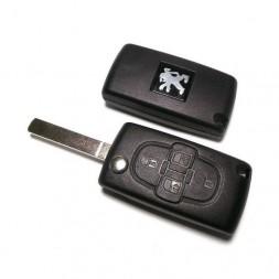 Κέλυφος Κλειδιού Peugeot με 4 Κουμπιά και Λάμα VA2
