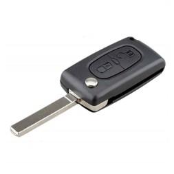 Κέλυφος Κλειδιού Citroen (Berlingo, C2, C3, C4, C6) με 2 Κουμπιά Αναδιπλούμενο με τη Μπαταρία στην Πλακέτα