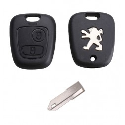 Κέλυφος Κλειδιού Αυτοκινήτου Peugeot (106, 107, 206, 207, 306, 307, 406, 407) με 2 Κουμπιά