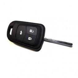 Κέλυφος Κλειδιού Opel με 3 Κουμπιά για Astra J- Insignia και Λάμα HU100