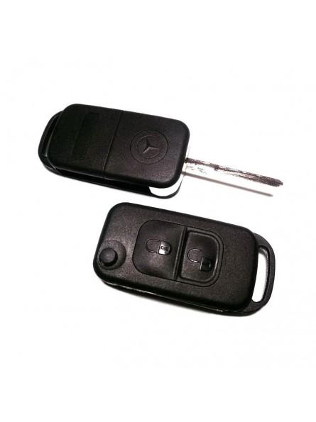 Κέλυφος Κλειδιού Mercedes με 2 Κουμπιά και Λάμα HU64