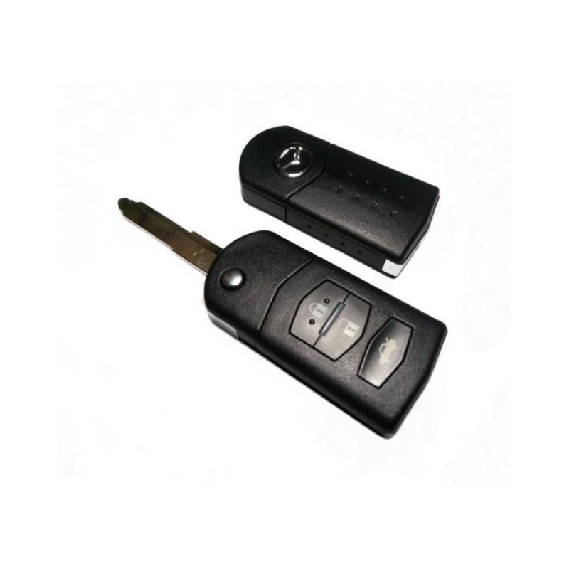 Τηλεχειριστήριο Mazda με 3 Κουμπιά Αναδιπλούμενο και ID63 Chip