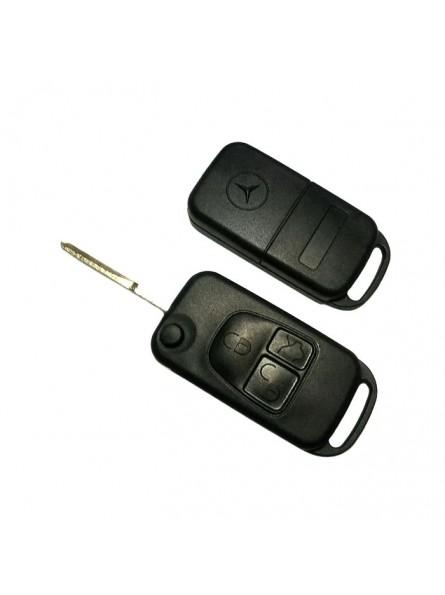Κέλυφος Κλειδιού Mercedes με 3 Κουμπιά και Λάμα HU64