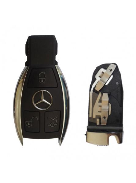 Κέλυφος Κλειδιού Mercedes για το Νέο Smart Key με 3 Κουμπιά (Nickel)
