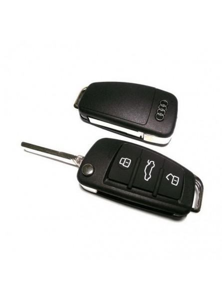 Κέλυφος Κλειδιού Audi με 3 Κουμπιά και Λάμα HU66
