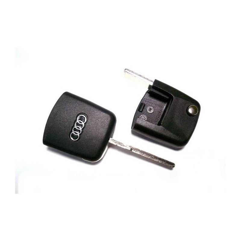 Κενό Κλειδί Audi με Υποδοχή για Chip Αναδιπλωμένο (Τετράγωνου Τύπου) και Λάμα HU66T00
