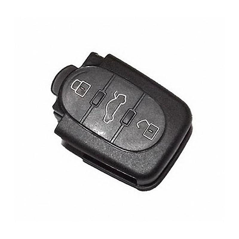 Κέλυφος Κλειδιού Στρογγυλό Audi με 3 Κουμπιά και Υποδοχή για Δυο Μπαταρίες