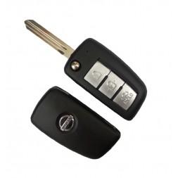 Κέλυφος Κλειδιού Nissan με 3 Κουμπιά Αναδιπλωμένο και Λάμα NSN14