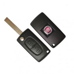 Κέλυφος Κλειδιού Fiat με 2 Κουμπιά και Λάμα HU83